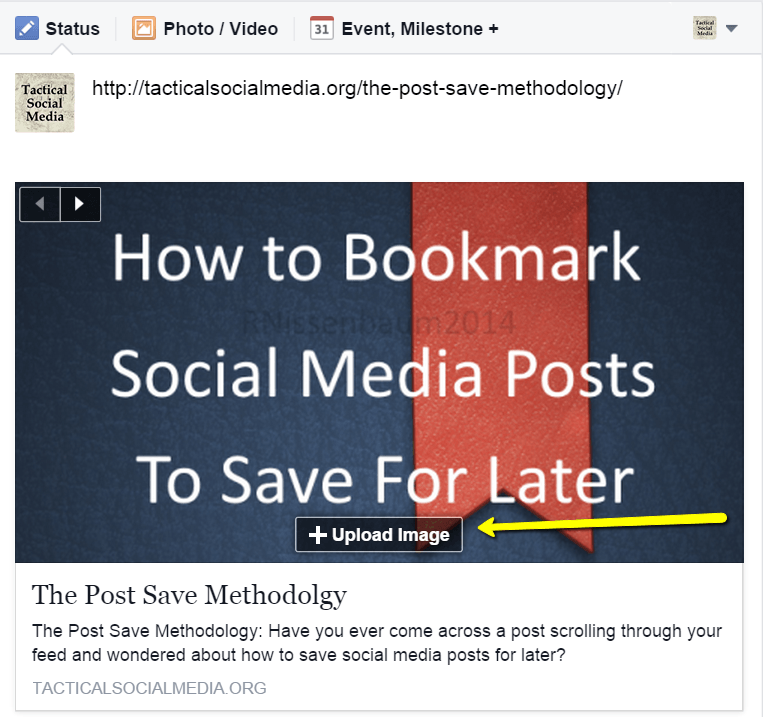The Blog Traffic Commute: #BeTactical How to change the image pulled with a shared link on a #Facebook post without breaking the link; Driving blog traffic