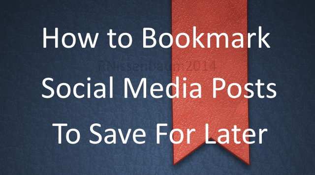The Save Post Methodology: How to save post from any social media platform by finding the URL.