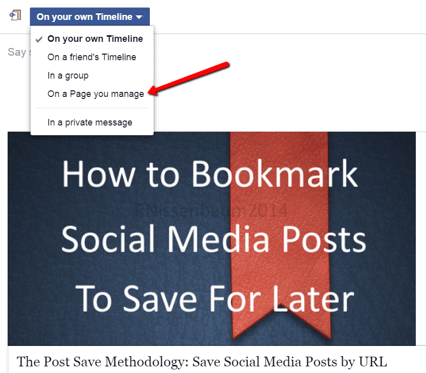 #BeTactical: How to share a post on your Facebook page for the purpose of tagging individuals