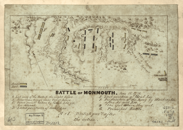 Battle of Monmouth, June 1778