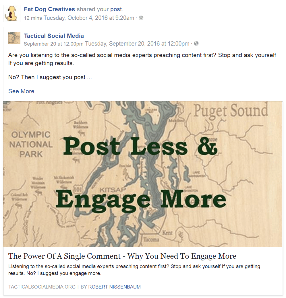 How you post and share content matters